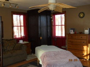 asheville massage therapy room